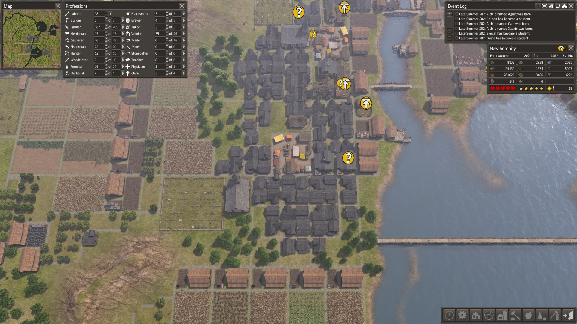 Banished, Late Game / Large Town - by roman-reviews